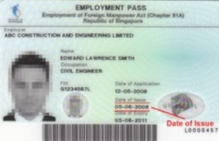 singapore employment pass card